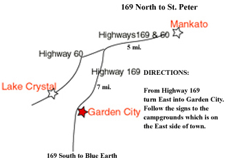 Map showing how to get to campground