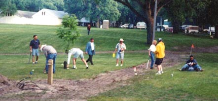 Picture of people playing a game