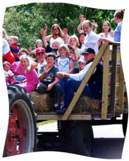 Picture of hayride