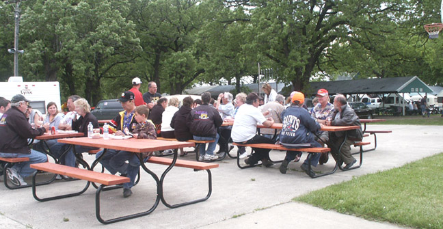 Picture of picnic tables